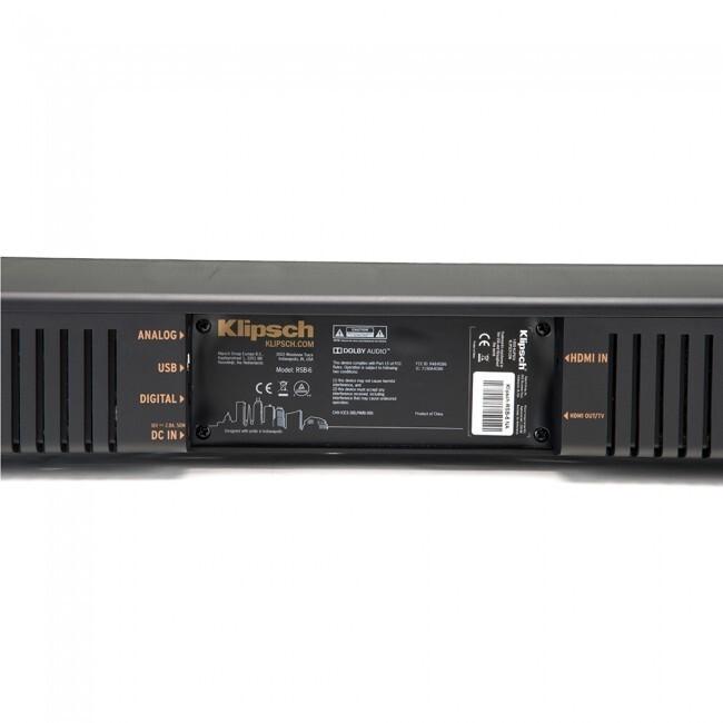 Klipsch RSB-6 | Barra De Sonido Con Subwoofer Inalambrico / Bluetooth / Hdmi / 4k Uhd
