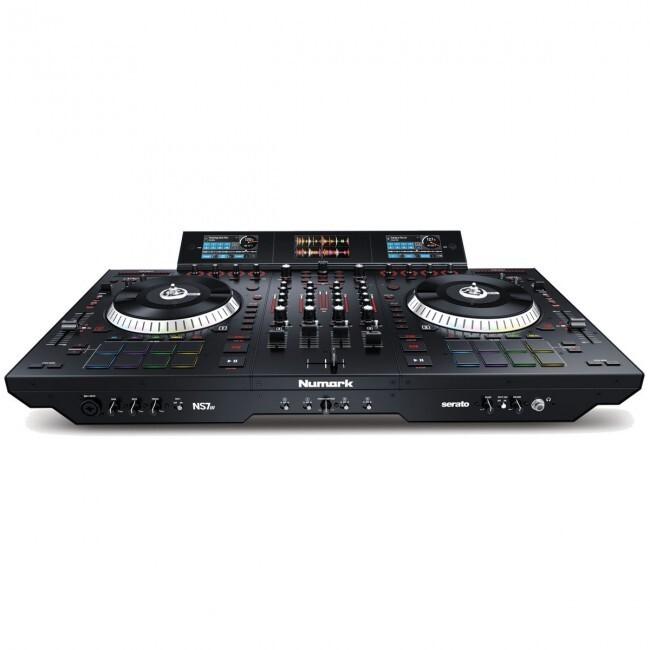 Numark NS7III | Controlador de DJ Motorizado de 4 Canales y Mezclador con Pantallas