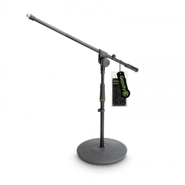 Gravity GMS2211B | Pie de micrófono corto con base redonda