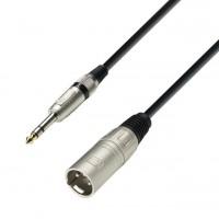 Adam Hall K3BMV0300 | Cable para Micrófono XLR macho a Plug estéreo de 3 metros de largo
