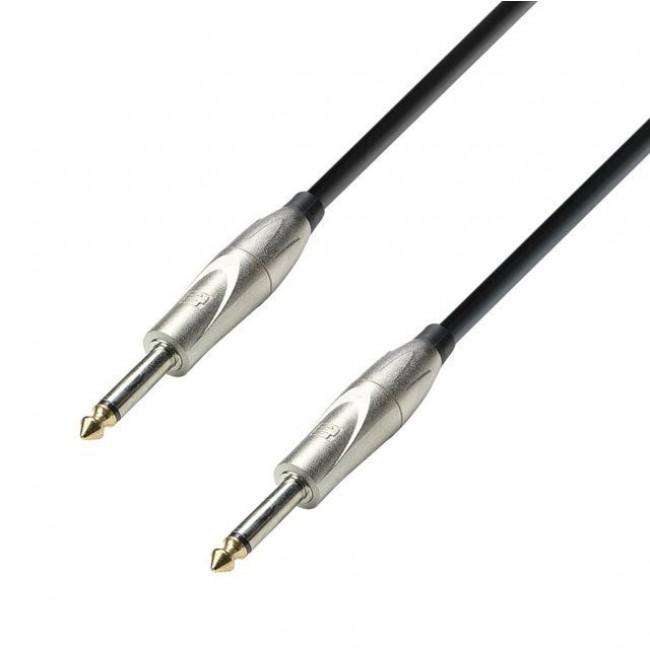 Adam Hall K3IPP0900   Cable de Instrumento de Plug 6,3 mm Mono a Plug 6,3 mm Mono 9 MT