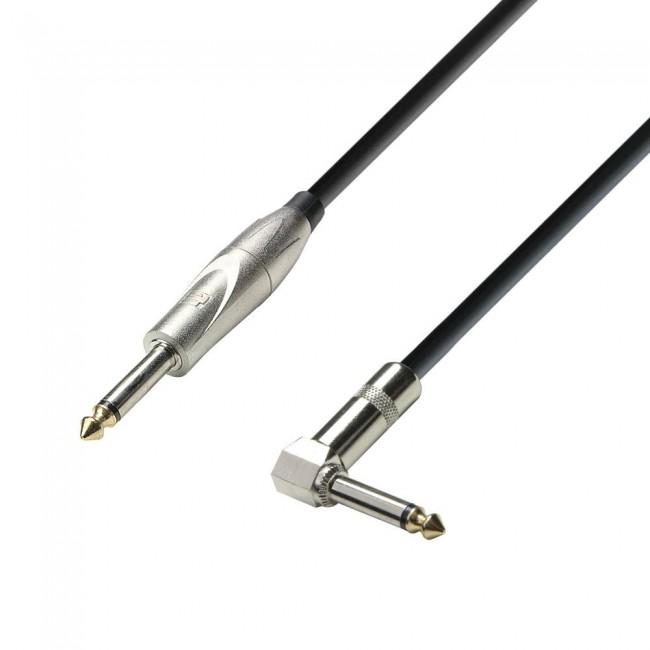 ADAM HALL K3IPR0600   Cable de Instrumento de Jack 6,3 mm mono a Jack 6,3 mm mono 6 m
