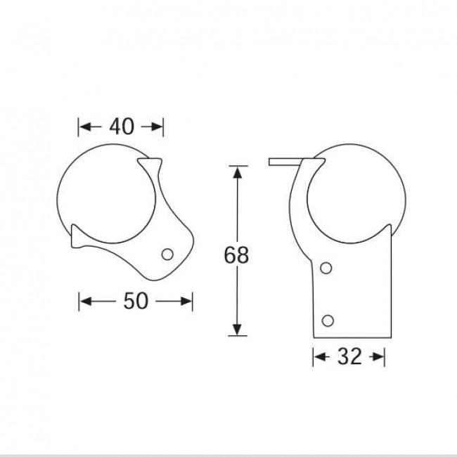 Adam Hall 41201 | Esquinero Metálico Dos Puntas con extensión