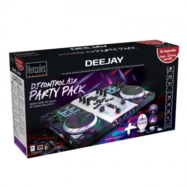 Hercules HER-AIR PARTY | Controlador para Dj mixer de 2 Canales con usb y luz led