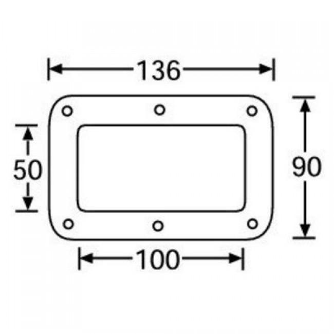 Adam Hall 38083 | Base Empotrable de Acero Galvanizado para Rueda 100mm