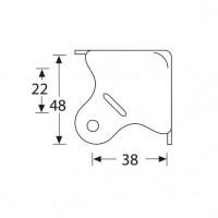 Adam Hall 4004 | Esquinero plano grande metálico para anvil o estuche