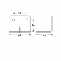 ADAM HALL 40403 | Escuadra 40 x 34 para Cantonera de 35 mm